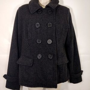 American Eagle M Double Breasted Wool Pea Coat
